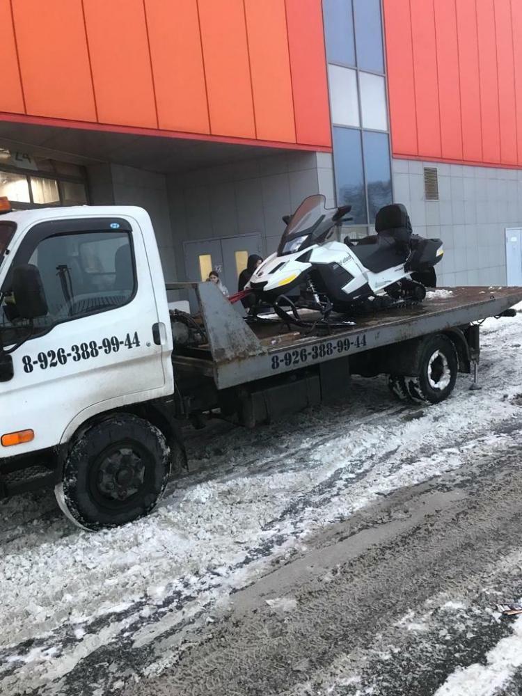 Эвакуация снегохода Михайловская Слобода — Каширское шоссе